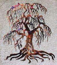 "Weeping Willow Metal Wall Art Tree 24"" Tall"