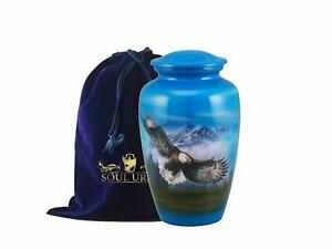 SOULURNS® - Flying Eagle Finish Adult Cremation Urns for Human Ashes