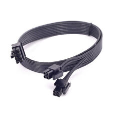 CPU 8pin to 2 way 4+4Pin Power supply Cable P8 to P4 for Corsair HX850i HX750i