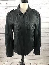 Mens  Allsaints Leather Motorcycle Jacket Medium Black