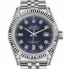 Rolex Oyster Perpetual Datejust Navy Blue 8+2 Diamond Dial 36mm Stainless Steel