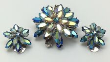 Austria Rhinestone Clip On Earrings And Brooch G074