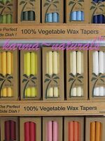 "TAPER 9"" CANDLES Palm Wax ALOHA BAY - 4 ct Box UnScented - Color Therapy Chakra"