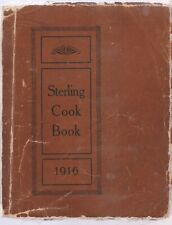 KNOX GELATIN STERLING COOK BOOK 1916, WITH UNIQUE LINEN COVERS