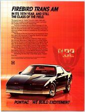1984 Pontiac Firebird Trans Am   Print Ad N1