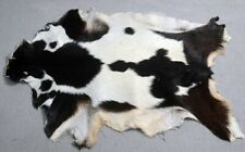 """New Goat hide Rug Hair on Area Rug Size 32""""x22"""" Animal Leather Goat Skin A-6564"""