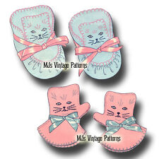 Vintage Pattern for Kitten Booties & Mittens