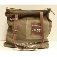 Canvas and Leather Unisex US Post Tote Bag