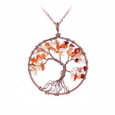 Tree of Life Pendant Necklace Fall Autumn Jewelry Leaves Falling Leaf Necklace