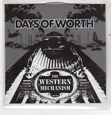 (GH349) Days Of Worth, The Western Mechanism - 2005 DJ CD