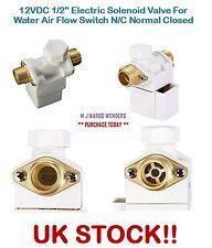 """12vdc 1/2"""" Valvola Solenoide Elettrico per l'acqua Interruttore di flusso d'aria N/C normale chiuso"""