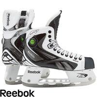 Reebok White K pump hockey player skates senior size 11 black gray new ice sr