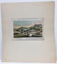 Antique Major Knapp Lithograph For D T Valentine Manual 1865 St Vincent Convent