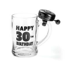 444201 HAPPY 30TH BIRTHDAY BELL MUG GLASS BEER IN BOX DRINKING ALCOHOL GIFT IDEA
