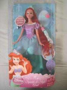 Disney Princess Barbie Sparkle & Style Ariel Mattel V9251 ..New In The Box!!!