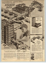 1963 PAPER AD 2 PG Kenner Combination Panel Building Set Sky Rail Hydro Dynamic
