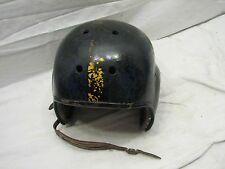 Vintage Hard Shell Football Helmet Steelers Colors No. 3 Leather Liner Antique