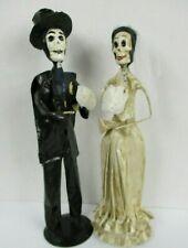 """Day of the Dead Skeleton Bride and Groom Figurines Dia De Los Muertos Mexico 15"""""""
