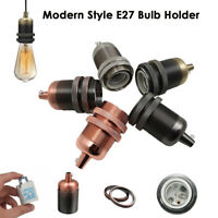 E27 Fitting Vintage Industrial Lamp Light Bulb Holder Modern Style Retro Edison