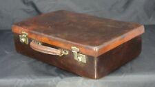 Large English Vintage Norfolk Hide Attache Briefcase