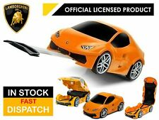 LAMBORGHINI HURACAN ORANGE KIDS LUGGAGE SUIT CASE TRAVEL TROLLEY STORAGE BOX