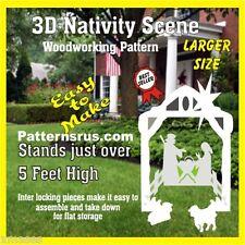 CHRISTMAS  NATIVITY SCENE YARD ART, WOODWORKING PATTERN patternsrus