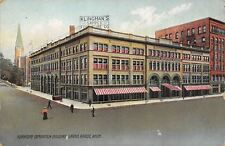 Grand Rapids Michigan~Horse-Drawn Delivery Wagon @ YMCA Postcard