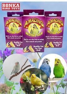 3279 Natural Sterilized Hair Nesting Material Bird Breeding Cockatiel Parakeet