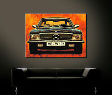 POPART MERCEDES BENZ SL Leinwand Bild W 107 R107 Malereistil 280 380 300 420 500