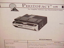 1975 AUDIOVOX CAR AUTO 8-TRACK STEREO TAPE PLAYER SERVICE MANUAL MODEL C-910