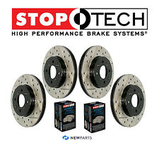 Acura TL Front & Rear StopTech Drilled Slotted Brake Rotors Street Pads Set Kit