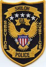 SHILOH GEORGIA GA Service Justice POLICE PATCH