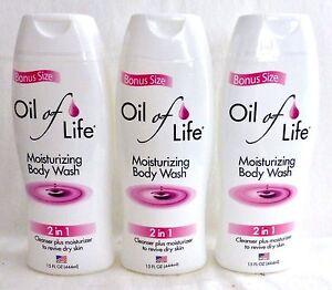 3 Oil Of Life Moisturizing Body Wash 2 In 1 Cleanser Plus Moisturizer 15 Oz