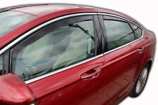 Window Deflectors visors rain guards Ford Fusion 2013-up 4pcs In-Channel