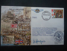 GB 1992 fall of singapore SIGNED Cover