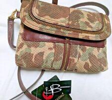 B. Makowsky Caroline Camo Shoulder Bag Purse Satchel - Brand new