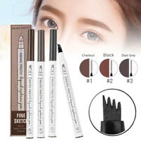 4 Tip Head Waterproof Eyebrow Pencil Microblading Ink Pen Tattoo Sketch Makeup