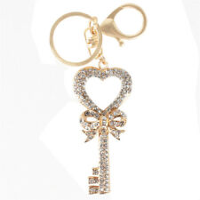 Vintage Keychain Heart Butterfly Lovely Fashion Cute Crystal Pendant Charm New