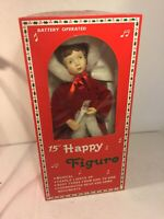 """Vintage 15"""" Happy Figure Toys Company Battery Operated Christmas"""
