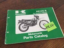 Kawasaki Parts list KE125 A7 KE 125 125KE catalogue liste pièce détachée