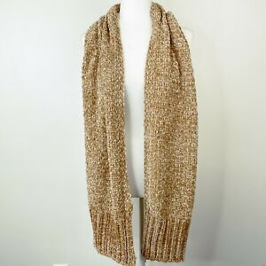 Chenille Muffler Scarf Women's One Size Charter Club Camel Soft Sweater Knit NEW