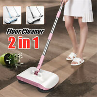 New 360° Spin Hand Push Sweeper Household Floor Cleaning Broom Mop No Electricty