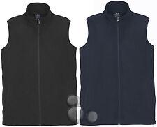 Mens Micro Fleece Vest Size  S M L XL 2XL 3XL 5XL Navy Black Fleecy
