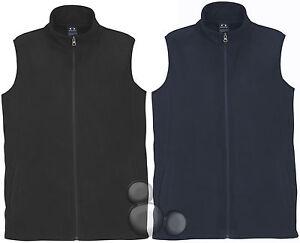 Mens Micro Fleece Vest Size S M L XL 2XL 3XL 5XL Navy Black Fleecy Winter Warm