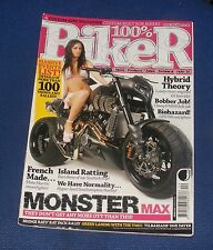 100% BIKER ISSUE NO.113 2009 - MONSTER MAX/HYBRID THEORY/BOBBER JOB!/BIOHAZARD!