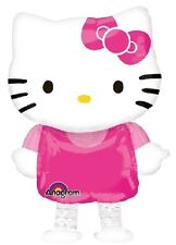 "HELLO KITTY 15.5x23.5"" AIRWALKER MYLAR FOIL BALLOON BUDDIES BIRTHDAY PARTY PINK"