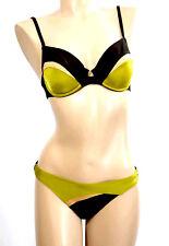 LISE CHARMEL BIKINI 2 PIECES SG: 90D + BAS: M/FR40 Marron & Vert 'Summer Couture