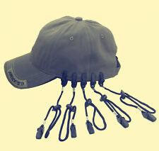 5Pcs  ADJUSTABLE HAT CLIP / LIB LATCH BLACK HAT RETAINER