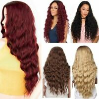 """27"""" Womens Curly Wavy Long Hair Wigs Ladies Party Costume Cosplay Full Wig+Cap"""