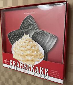 Williams Sonoma Scandinavian 3D KranseKake Cookie Cutter Set, Nordic Ware, NIB